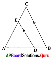 AP 10th Class Maths Bits Chapter 8 Similar Triangles with Answers 14