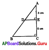AP 10th Class Maths Bits Chapter 8 Similar Triangles with Answers 2