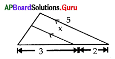 AP 10th Class Maths Bits Chapter 8 Similar Triangles with Answers 3