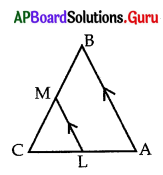 AP 10th Class Maths Bits Chapter 8 Similar Triangles with Answers 9